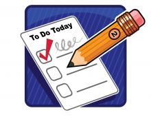 To Do – Never forget a thing if you write a to do list…Don't lose the list!